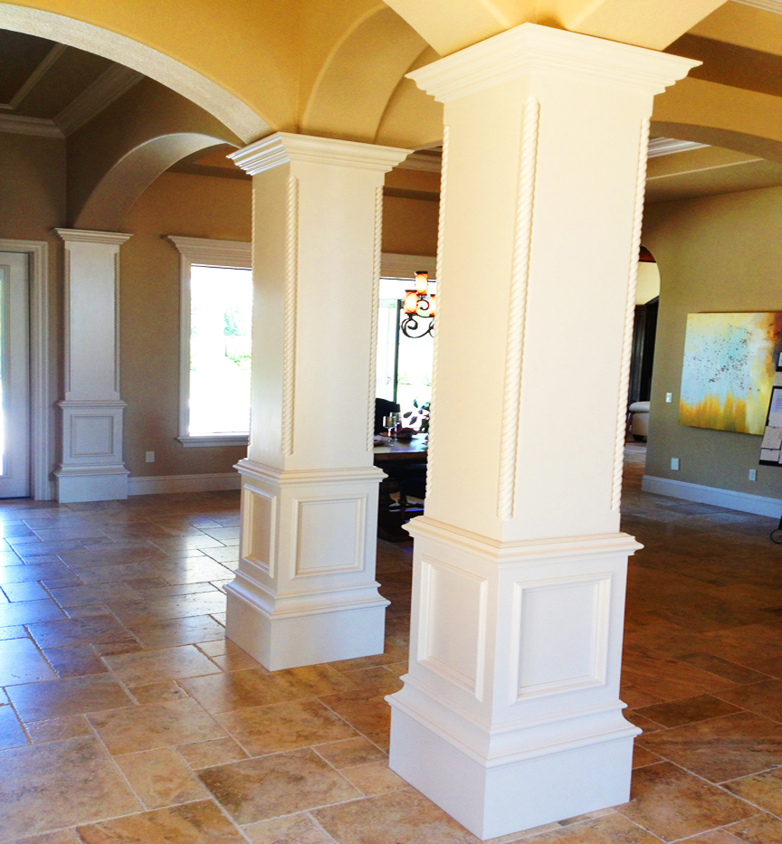 Decorative columns for Indoor column ideas
